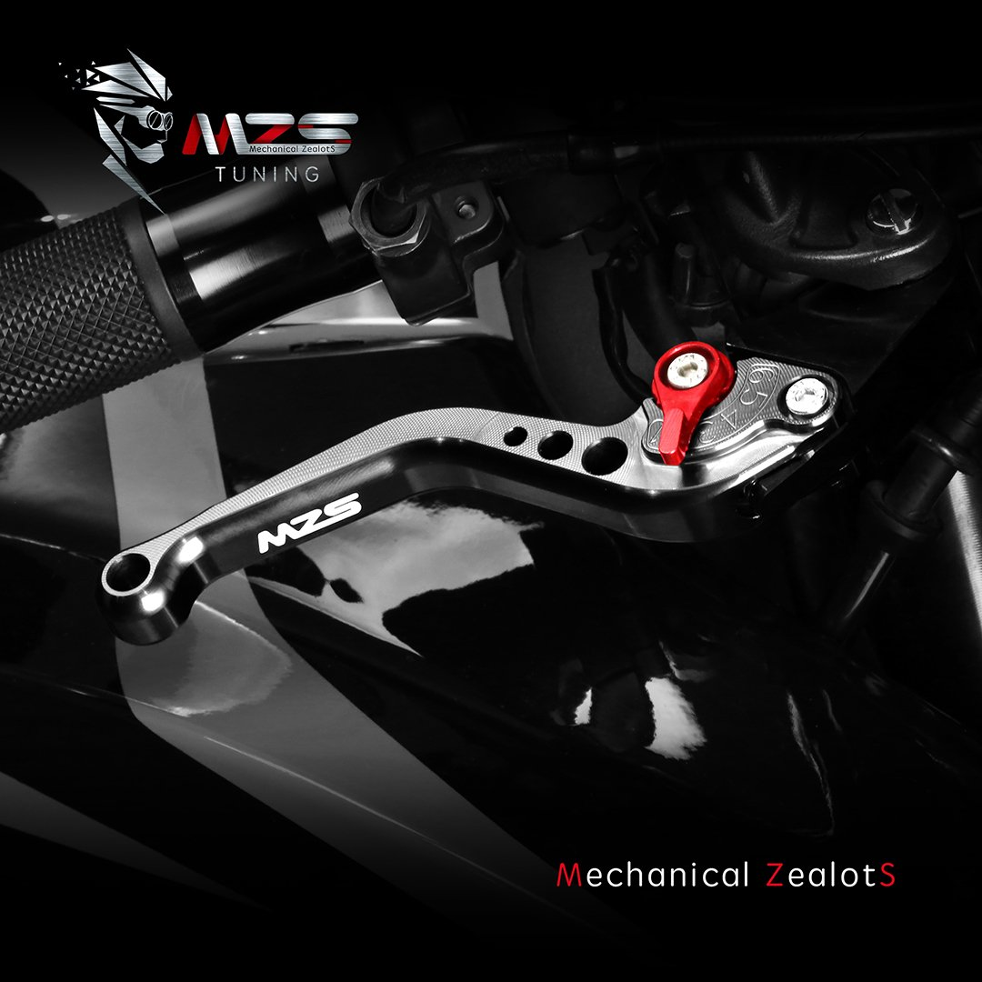 MZS Short Brake Clutch Levers for Suzuki GSXR600 2006-2010,GSXR750 2006-2010,GSXR1000 2005-2006-Black