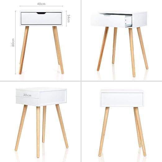 Möbelfreude Nachtkonsole Nachttisch Tjark weiß Schublade Stauraum Beistelltisch