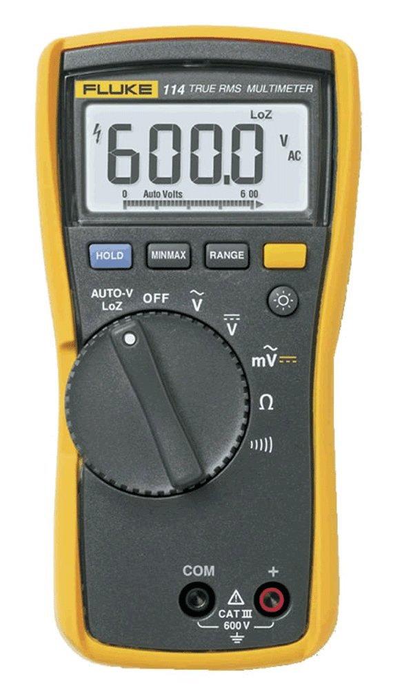 Fluke 114 Electrical Multimeter, 6.57-inch x 3.31-inch x 1.82-inch