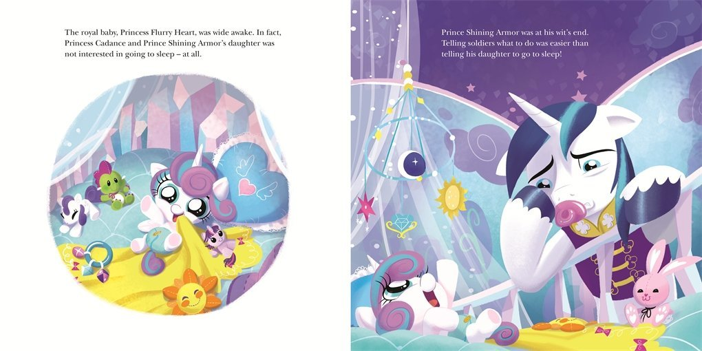 good night baby flurry heart picture book my little pony amy