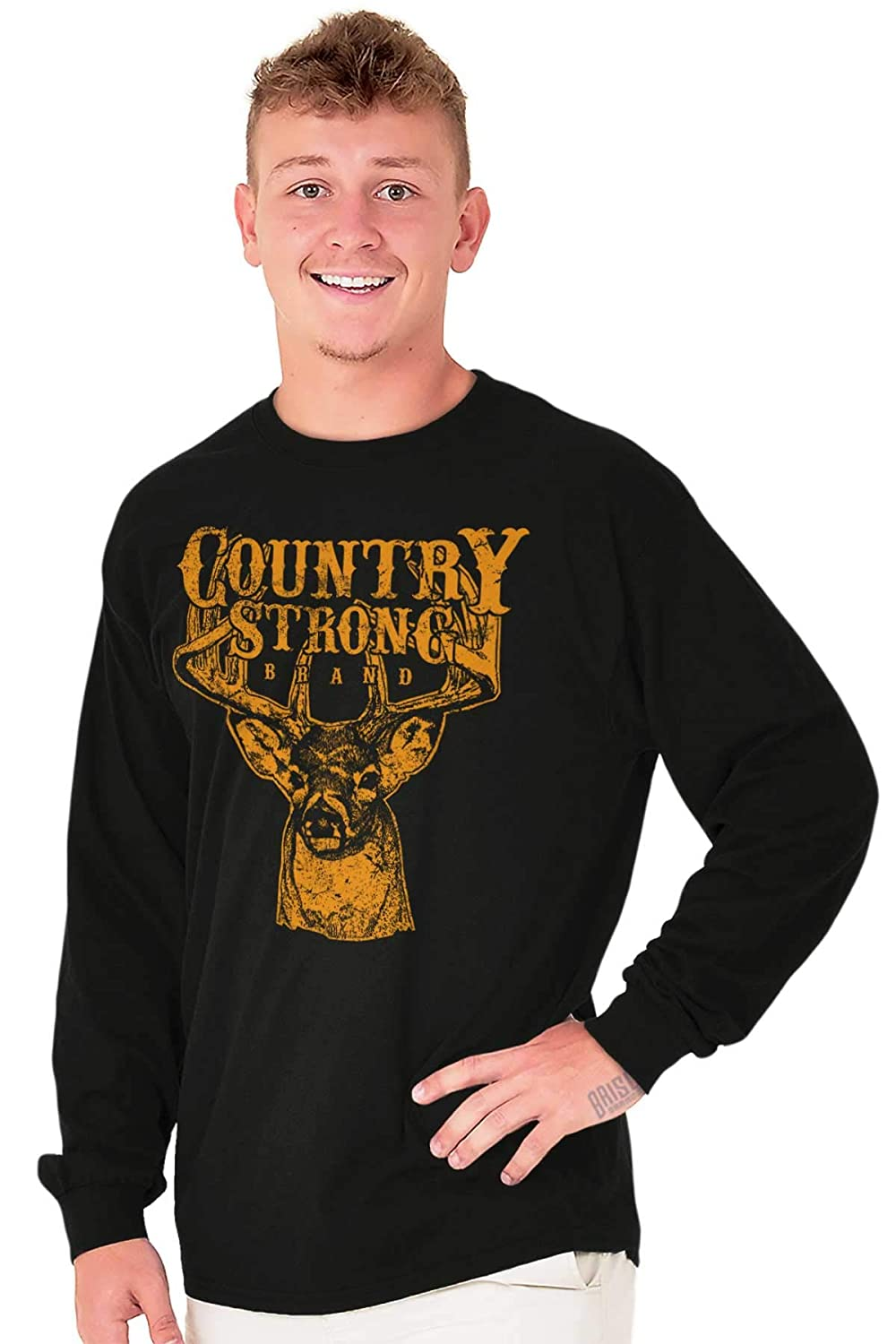 Brisco Brands Country Strong Deer Hunting Western Cowboy Long Sleeve
