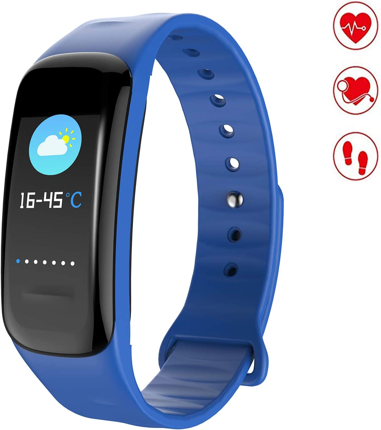 MEGAUS Fitness Tracker Color Screen Sport Band Heart Rate Monitor,HR Blood Oxygen Pressure Calorie Sleep Monitor.
