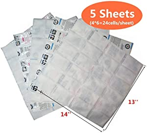 Ice Pack Sheets Leak-Proof Gel Refrigerant Pack for Coolers and Shipping, Freezer Cold Blankets Keep Food Fresh and Beverage Cold, 42 oz/Sheet After Absorb Water, Reusable and Flexible, 4 x 6 Cells