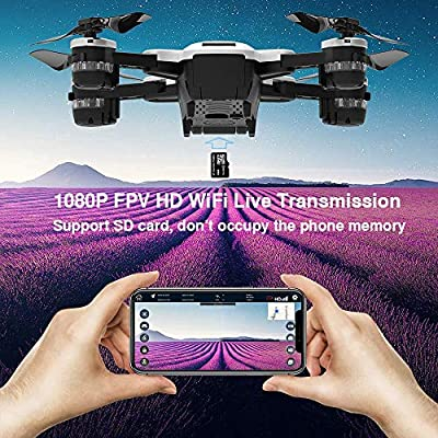 le-idea IDEA10 FPV RC Drone with 1080P Wide-Angle HD Camera Live Video and GPS Return Home, WiFi Quadcopter with Altitude Hold, Easy to Fly for Beginners, Intelligent Battery Long Control Range from le-idea