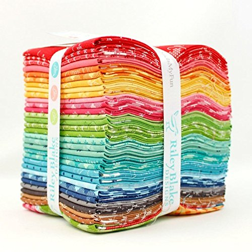 Bee Basics Fat Quarter Bundle (31 pcs) - Lori Holt - Riley Blake 18 x 21 inches (45.72cm x 53.34cm) fabric cuts DIY quilt fabric (Fq Quilt Fabric)