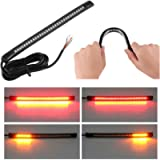 Wiipro Universal led Harley Davidson Light Strip Tail Brake Stop Turn Signal 32LED 8' Flexible led light for motorcycle