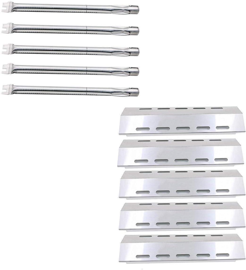 Direct Store Parts Kit DG257 Replacement Ducane 5 Burner 30500701//30500097 Gas Grill Repair Kit Stainless Steel Burners /& Heat Plates