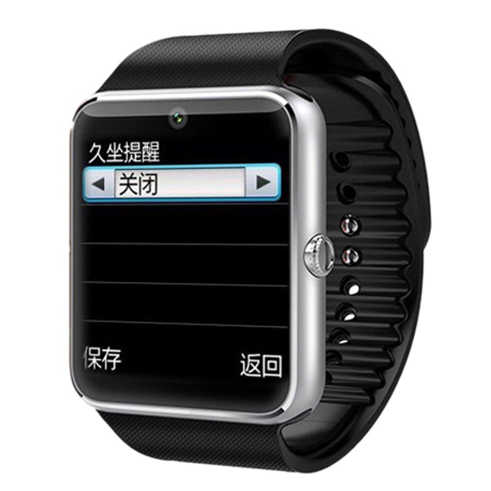 High tech GT08 Reloj bluetooth inteligente teléfono-reloj para Android IOS Teléfono Samsung iPhone con cámara: Amazon.es: Electrónica