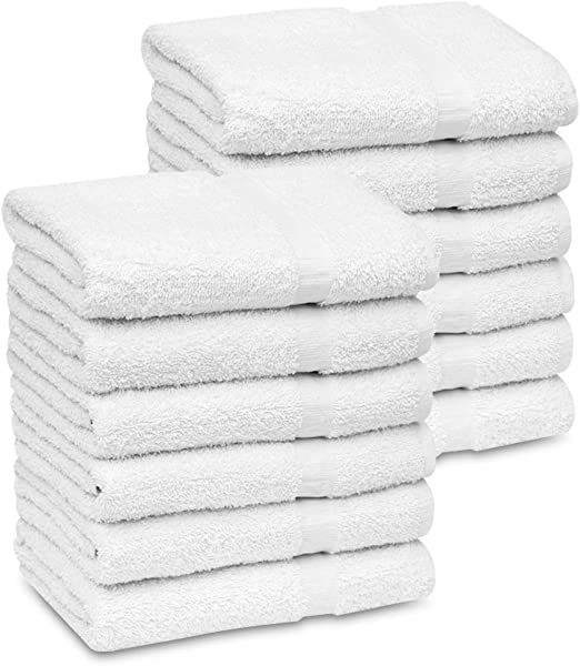 Amazon.com: GOLD TEXTILES 120 (10 Dozen) New White Economy Bath