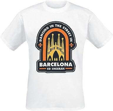 Ed Sheeran Barcelona Hombre Camiseta Blanco, Regular: Amazon.es: Ropa y accesorios