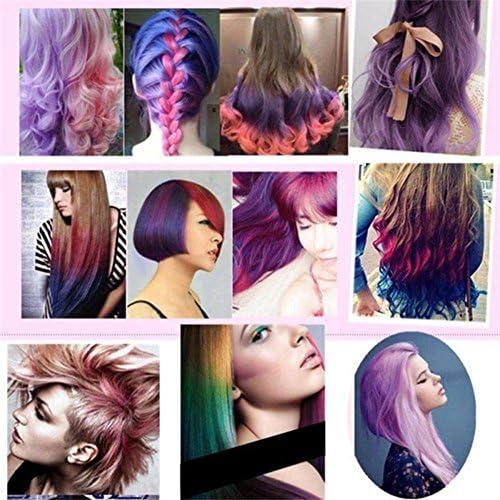 clifcragrocl tinte pelo,15ml Colorante no t¨®xico temporal Tinte para el cabello Unisex Cosplay DIY Salon Hair Mascara - Rojo vino
