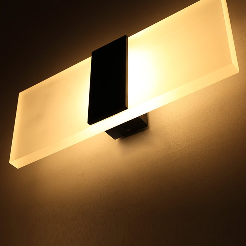 Outreo Modern Acrylic 6W LED wall Sconces Light Lamp Decorative ...