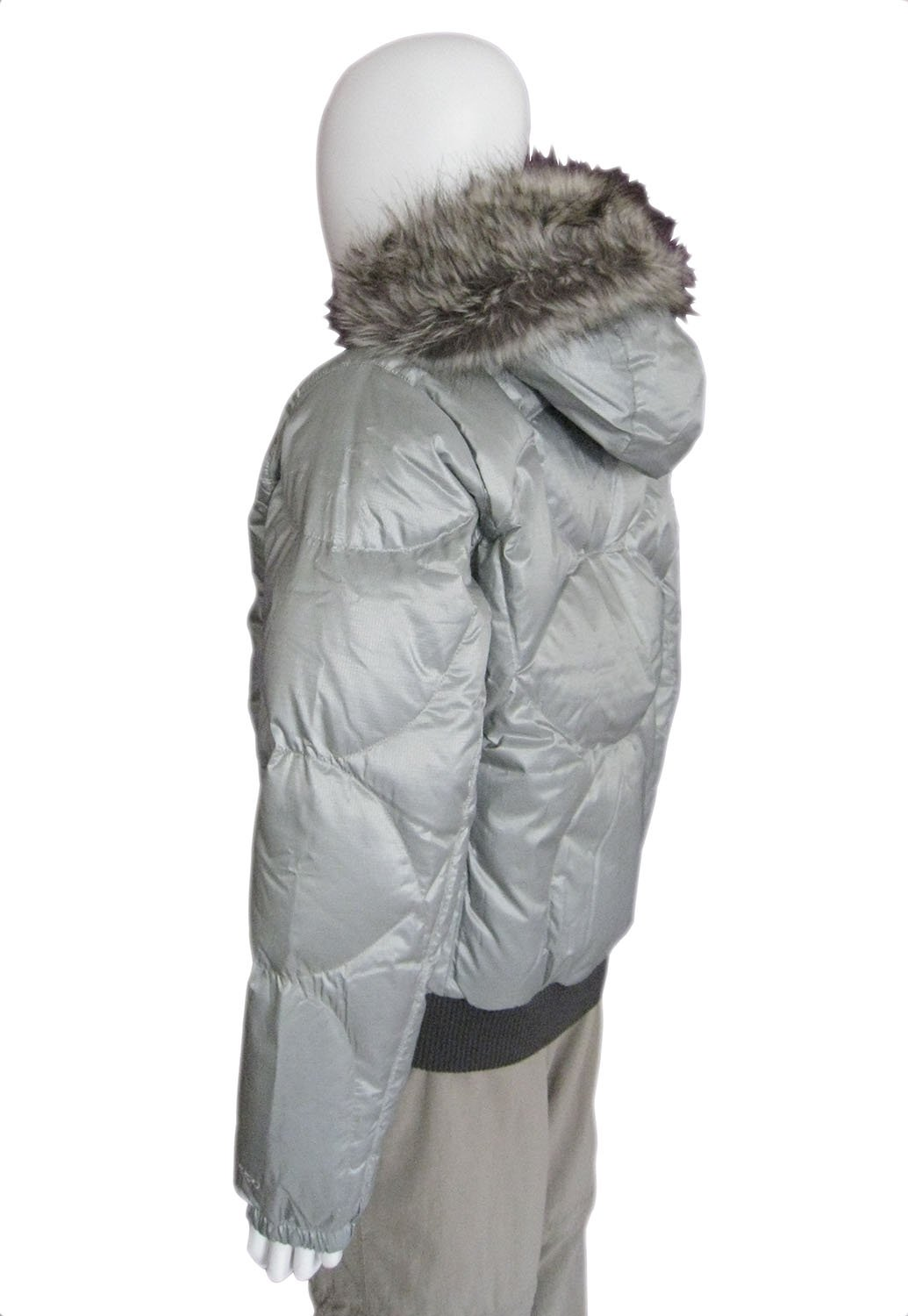 61b6dda272 The North Face Women s Sammie Down Puffer Jacket (Foil Grey Silver ...