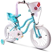 COEWSKE Kid's Bike Steel Frame Children Bicycle Little Princess Style 12-14-16-18-20 Inch with Training Wheel