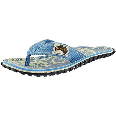 cd455739dafbbd Gumbies Islander Denim Hibiscus Flip Flop 4  Amazon.co.uk  Shoes   Bags