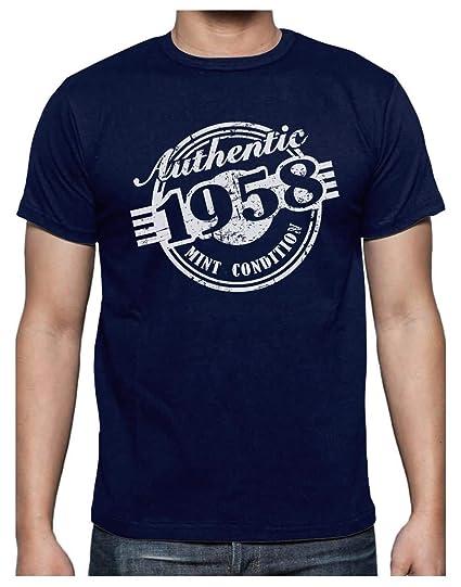 Green Turtle T-Shirts Camiseta para Hombre - Regalo Original de Cumpleaños para Celebrar los 60 Años de Edad