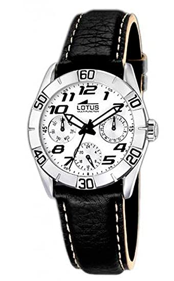 Lotus 15651/1 - Reloj analógico de mujer de cuarzo con correa de acero inoxidable negra - sumergible a 50 metros: Amazon.es: Relojes