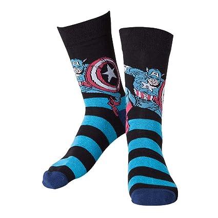 Marvel cr071006mar-39/42 calcetines de Capitán América (Talla 6 – 8/