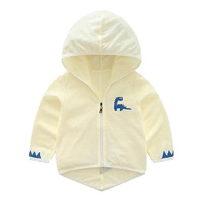 ANDYOU-Baby Cute Thin Zip up Cotton Sun Protection Hoodie Sweatshirt