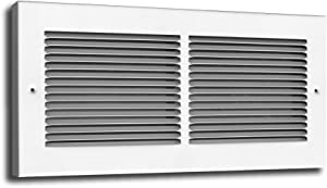 Truaire C123RW 10X06(Duct Opening Measurements) 3/4-Inch Margin Turnback 1/3-Inch Space Fin Floor Return Grille 10-Inch by 6-Inch Floor Baseboard Register, White