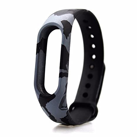 Techonto Band Strap Camouflage for Mi Band 2 (Device Not Included)-ARMYGREY