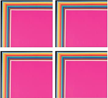 Assorted Colors School Smart Railroad Board 22 x 28 Inches Pack of 25 4-Ply