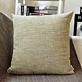 Linen Pillow case,Pillow case,Car Pillow,Bedroom Pillow case,Sofa Pillow case, for Bedroom Living Room Sofa-E 60x60cm(24x24inch) VersionA
