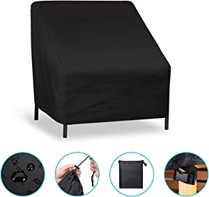 NASUM Patio Seat Cover, Lounge Deep Chair Cover, Durable and Waterproof Outdoor Furniture Chair Cover, Large Seat Patio Chair Cover, Oxford Cloth Cover (96x78x73cm /38x31x29in)
