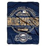 "MLB Milwaukee Brewers Structure Micro Raschel Throw, 46"" x 60"""