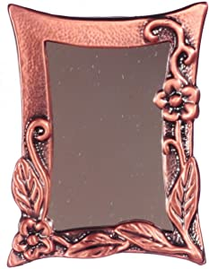 Melody Jane Dolls Houses House Miniature Accessory Antique Copper Climbing Flower Framed Mirror