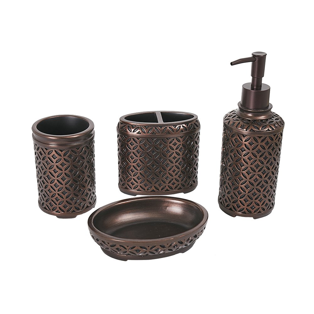 Venetian Bronze Bathroom Accessories Amazon.com: Bathpro 4-piece Oil Rubbed Bronze Bathroom Accessories Set -  Includes Toothbrush Holder, Tumbler, Soap Dish, Dispenser Pump - Simple Orb  Design: ...