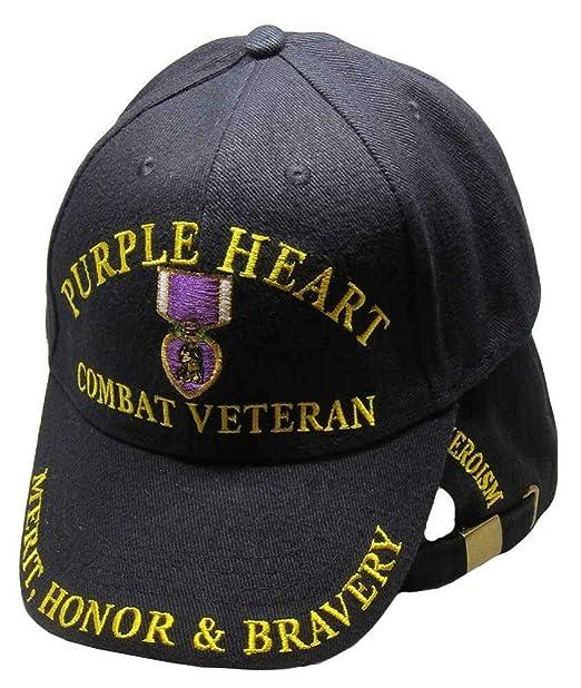 fd5e1da4281 Image Unavailable. Image not available for. Color  Purple Heart Combat  Veteran Hat ...