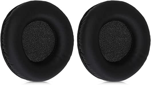 PU Leather Replacement Ear Pads for Headphones kwmobile 2X Earpads Compatible with Sennheiser HD215 //HD225 //HD205 II//HD 4.40 BT Black