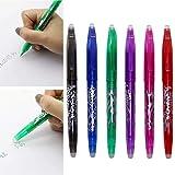 Voiks 6 Color 0.5mm Bolígrafo Roller de Gel de Tinta borrable Pluma Borrable Colorido Dibujo Creativo Gel Pluma Herramientas de Escritura Estudiante Papelería de Regalo(1 unids)