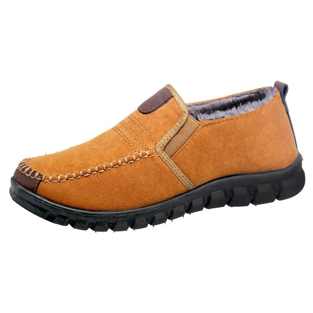 Pantoufles d'intérieur pour Hommes Mocassins antidérapants en Peluche avancés Chaussures d'hiver Mocassins intérieur et extérieur Chaussures de Conduite