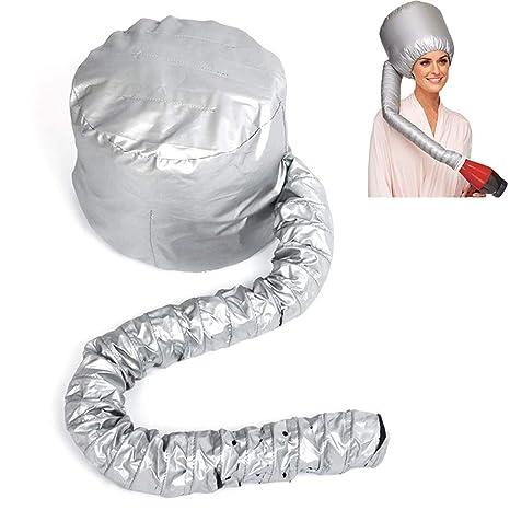 Rishx Gorra de secado de pelo portátil, Haircare Salon Secador de pelo Sombrero Accesorios Inicio