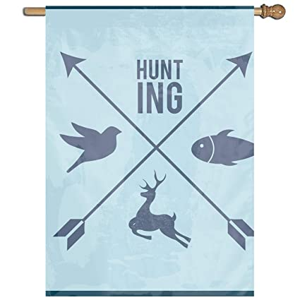 Amazon com : Blue Hunting Home Garden Flags Polyester Flag