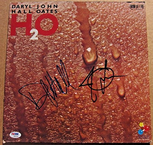 Darryl Hall John Oates Hall Oates 2x signed H2O LP Album Cover (H2o Football)