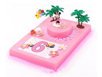 Tortendeko 6 Geburtstag Minnie Mouse 12 Teilig Tortenaufleger Kuchen