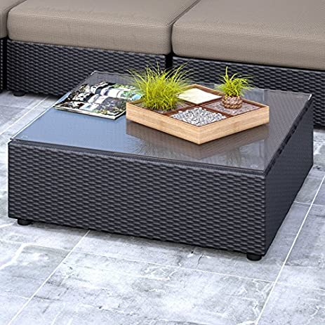 Seattle Coffee Table Wicker Patio Outdoor Furniture
