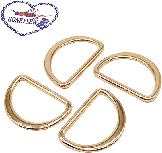 CRAFTMEmore 100 Pack 1 Inch Metal D-Rings Non Welded Dee Ring for Bag Landyard DIY Craft Accessories Antique Brass