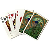 Peacock - Art Nouveau (Playing Card Deck - 52 Card Poker Size with Jokers)