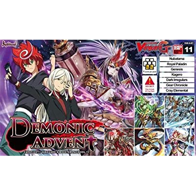 Cardfight Vanguard VGE-G-BT11 Demonic Advent Display Box of 16 Boosters, Multi-Colour: Toys & Games