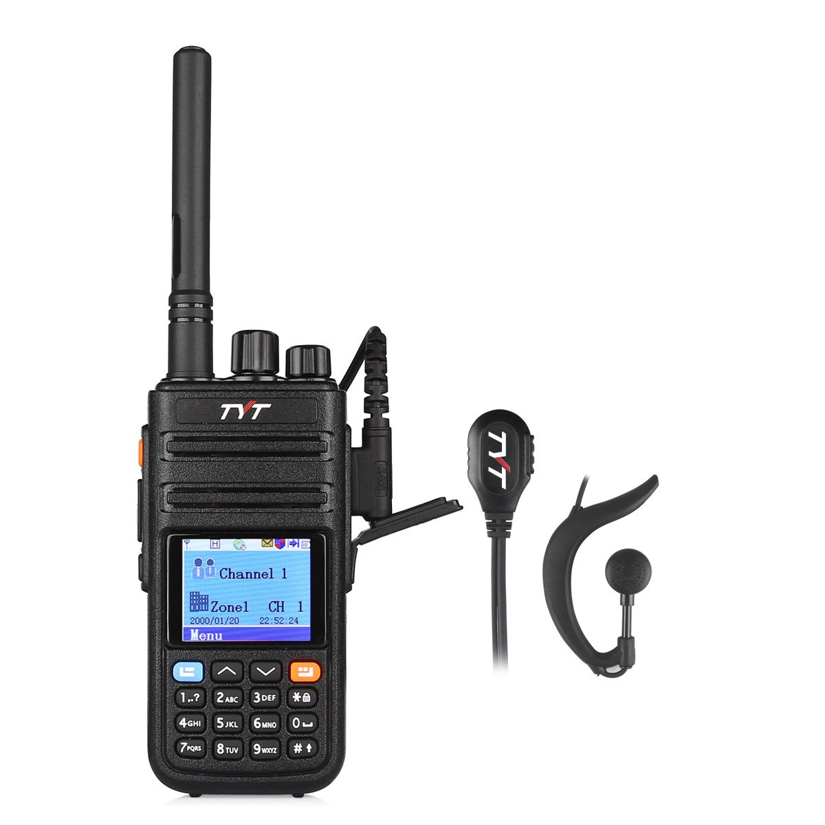 TYT Tytera Upgraded MD-380G DMR Digital Radio, with GPS Function! UHF 400-480MHz Two-Way Radio, Walkie Talkie Compatible with Mototrbo, Transceiver with 2 Antenna & Programming Cable & Earpiece