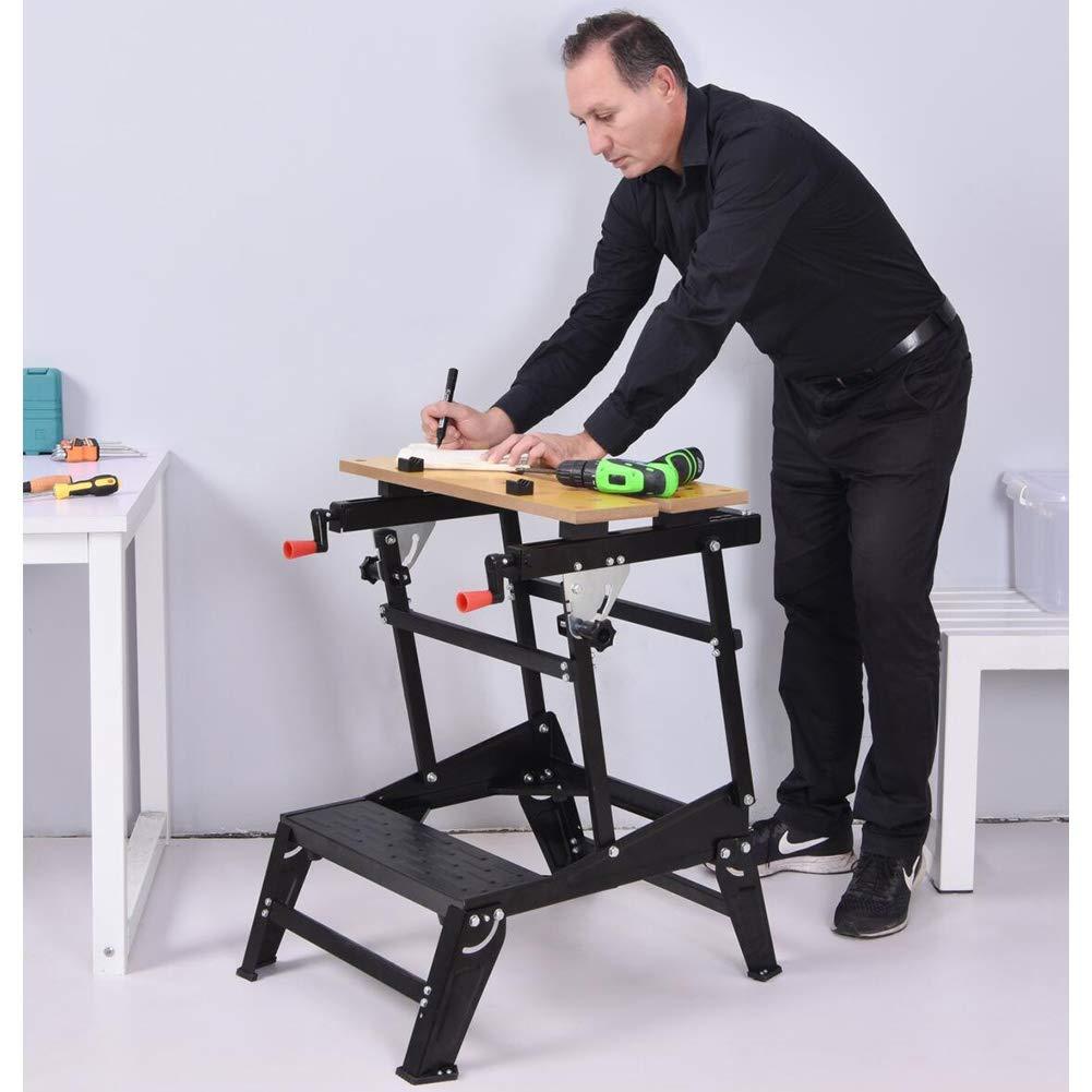BLISSUN Folding Multipurpose Workmate Workbench Sawhorse