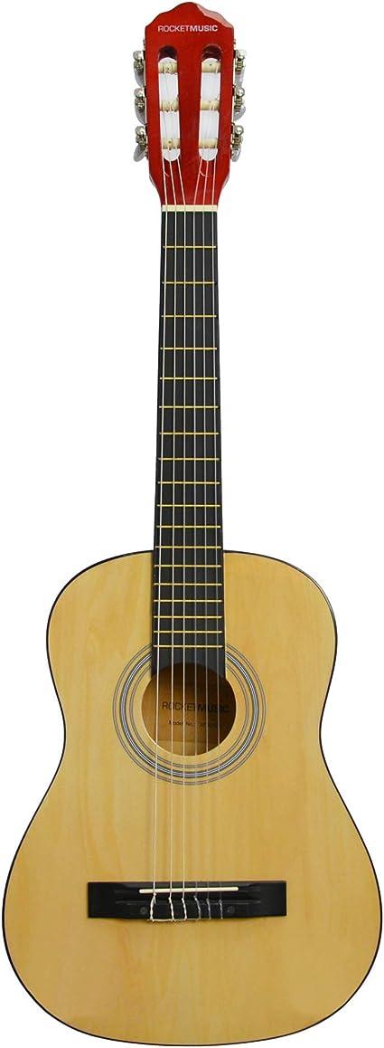 Rocket Music CG12N - Guitarra clásica, color marrón: Amazon.es ...