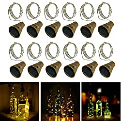 10 LED Bulbs Cork Lights Solar Powered (12 pcs) - 39 Inch Long String Wine Bottle Cork Fairy Lights for Bottle DIY, Table Decorations, Christmas, Wedding, Dancing, Halloween, Party, Festival Decor