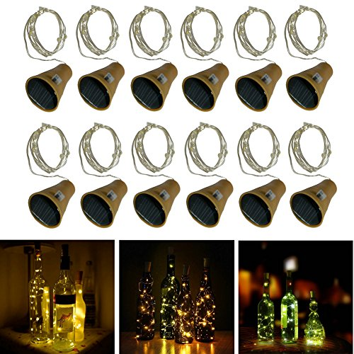 10 LED Bulbs Cork Lights Solar Powered (12 pcs) - 39 Inch Long String Wine Bottle Cork Fairy Lights for Bottle DIY, Table Decorations, Christmas, Wedding, Dancing, Halloween, Party, Festival Decor (Led Christmas Uk Tapestry)
