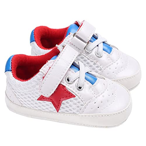87f59137c46ad Amazon.com | Baby Boys Mesh Lace-up Stars Sneakers Soft Sole Slip On ...