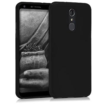 kwmobile Funda para LG Q7 / Q7+ / Q7a (Alpha) - Carcasa para móvil en TPU Silicona - Protector Trasero en Negro Mate